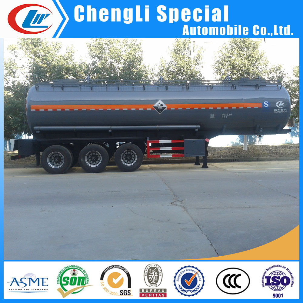 2 axle or 3 axles carbon steel tank trailer acid transport road tanker hydrochloric sulfuric acid tank for sale