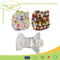 MPF011 eco organic minky fabric baby washable real cloth pocket diaper nappy, reusable nappy with insert