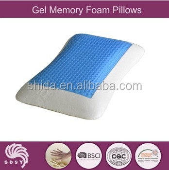 Super cool giant cheap contour Polyurethane memory foam Cool gel pillow