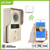 Shenzhen ACTOP 2016 Hot POE metal night vision Android/IOS WIFI Video Door Bell Intercom system with ID card opening door