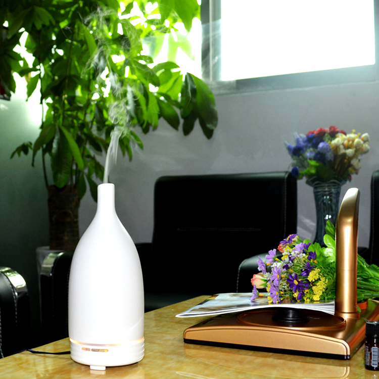 100ml Ultrasonic Smart Wi-Fi Aroma Diffuser And Humidifier with 7 Color Lights support work with alexa and APP control