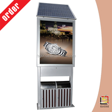 solar advertising trash bin publicidad eefl light box