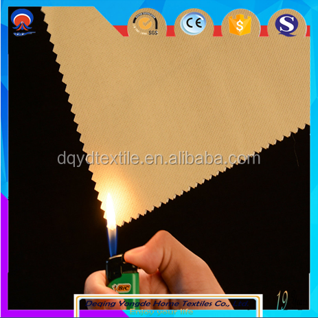 high quality fire retardant oxford blackout curtain fabric for roller blinds
