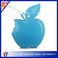 crystal clear apple shape car air freshener hanging on car,hotel,room air freshener, custom unscented air freshener paper