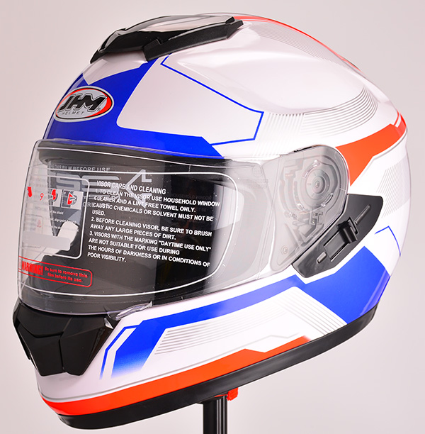 2016 ECE DOT approved Unique double visors helmet motorcycle full face helmet