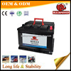 65513 DIN Standard 12v155ah global hybrid car battery 46b24l