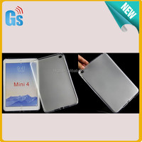 Frosted Gel Pudding TPU Cover For iPad Mini 4 Rubber Case