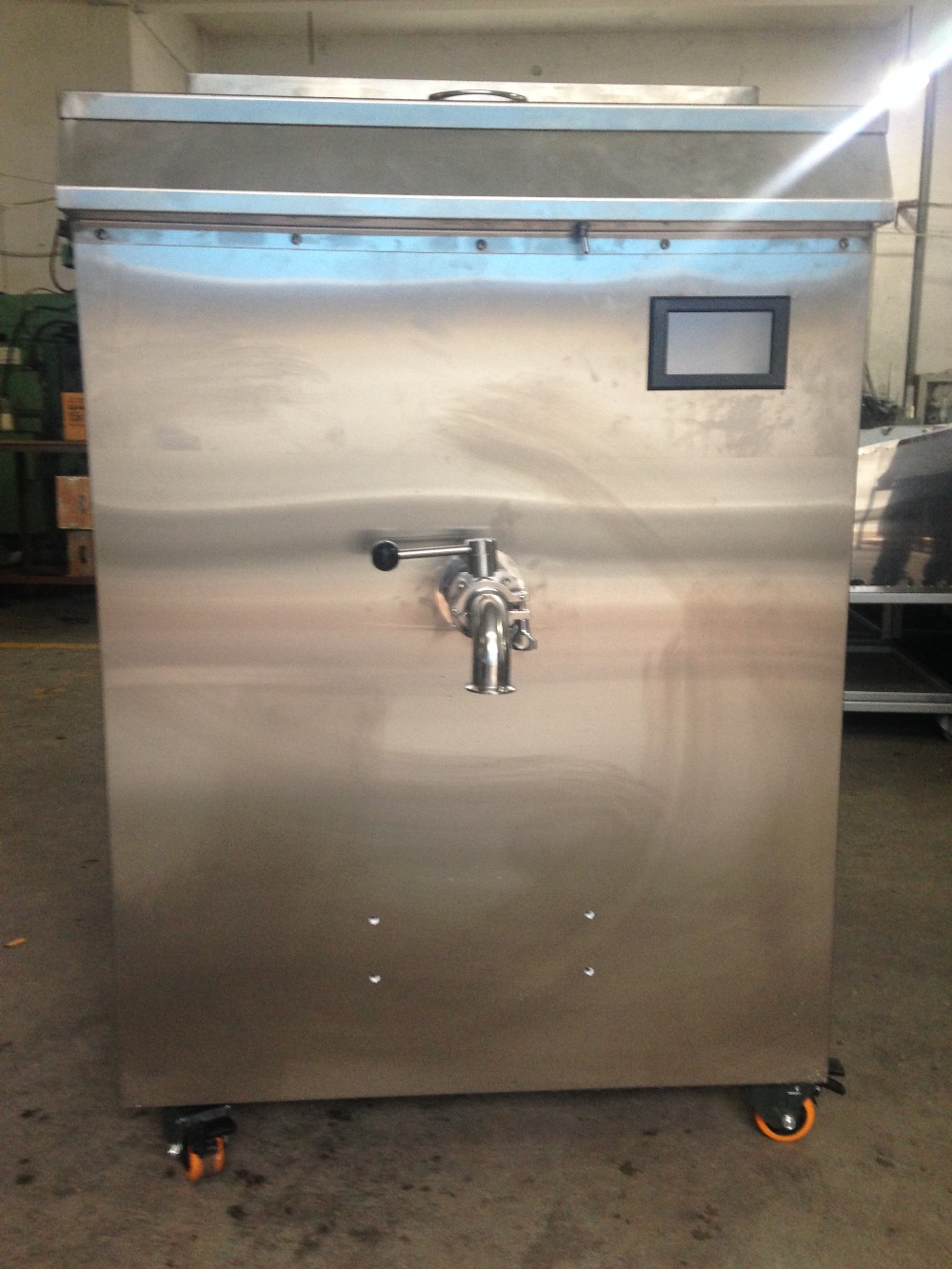 commercial ice cream batch pasteurizer with small capacity ice tank