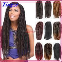 Hot Sell Shedding Free Large Stock Crochet Braid Hair Afro Wigs for Black Women Jumbo Hair Braid Hair Wholesale