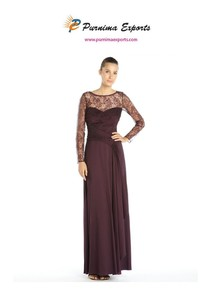 Purple Stretch Evening Dress