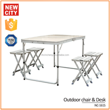 outdoor aluminum portable picnic folding table NC-161 S