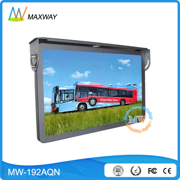 metal housing hot 19 networking lcd bus touch ad player