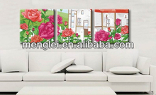 2014 hot sell rose love diy digital oil painting
