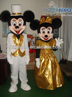 new arrival cartoon character Mickey and Minnie Mascot Costume