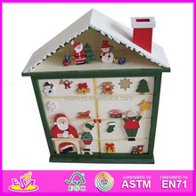 2015 wooden christmas house toy for kids,wooden toy house toy for children,cute wooden house for baby WJ278255