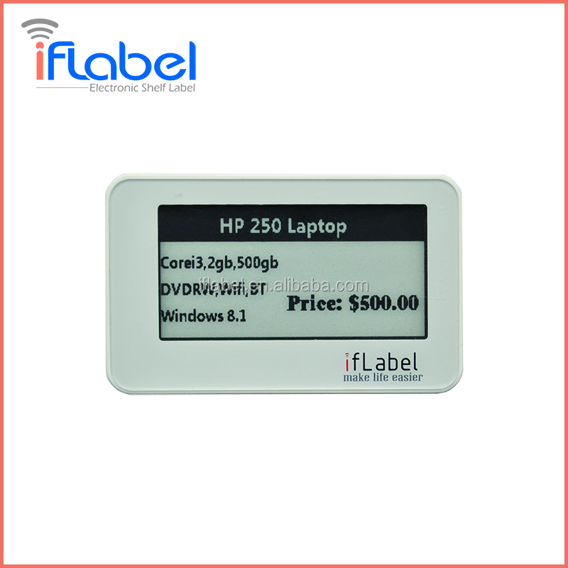 L003 2.13 inch Bluetooth wireless transmission e-ink Electronic Shelf Label from Iflabel
