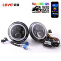 "APP controlled rgb 7 inch Headlight 4"" rgb led fog light for Jeep Wrangler"