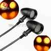 ZJMOTO Sport Chopper Universal Turn Signal Brake Lights Bulb Motorcycle Blinker Indicators Black LED for Motobikes Signals Light