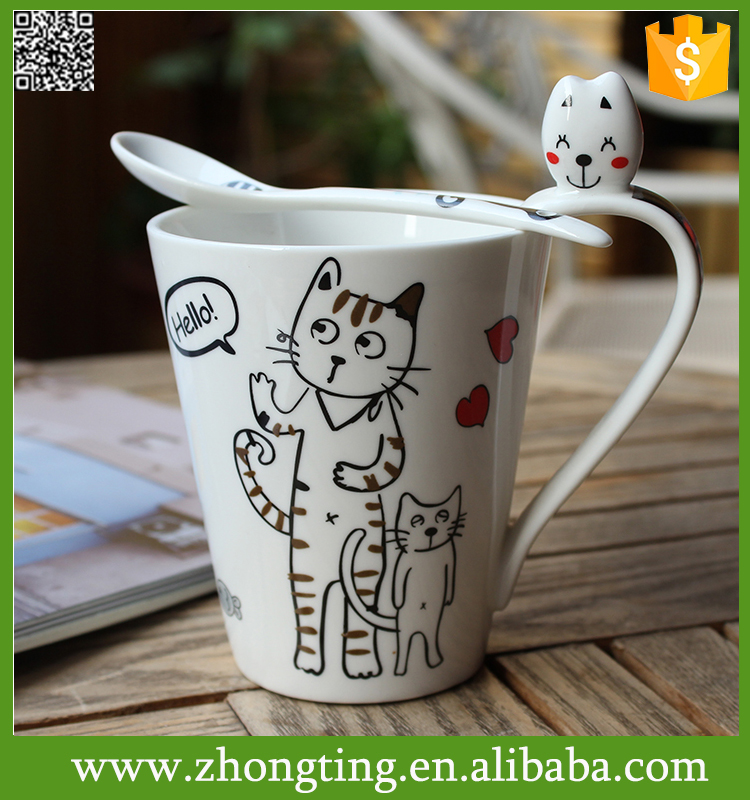 Lovely New design Personalize Hot sale tea cups wholesale ceramic double insulated mugs