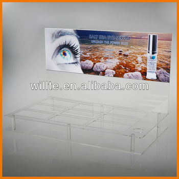 High grade eyelashes display stand with back logo board