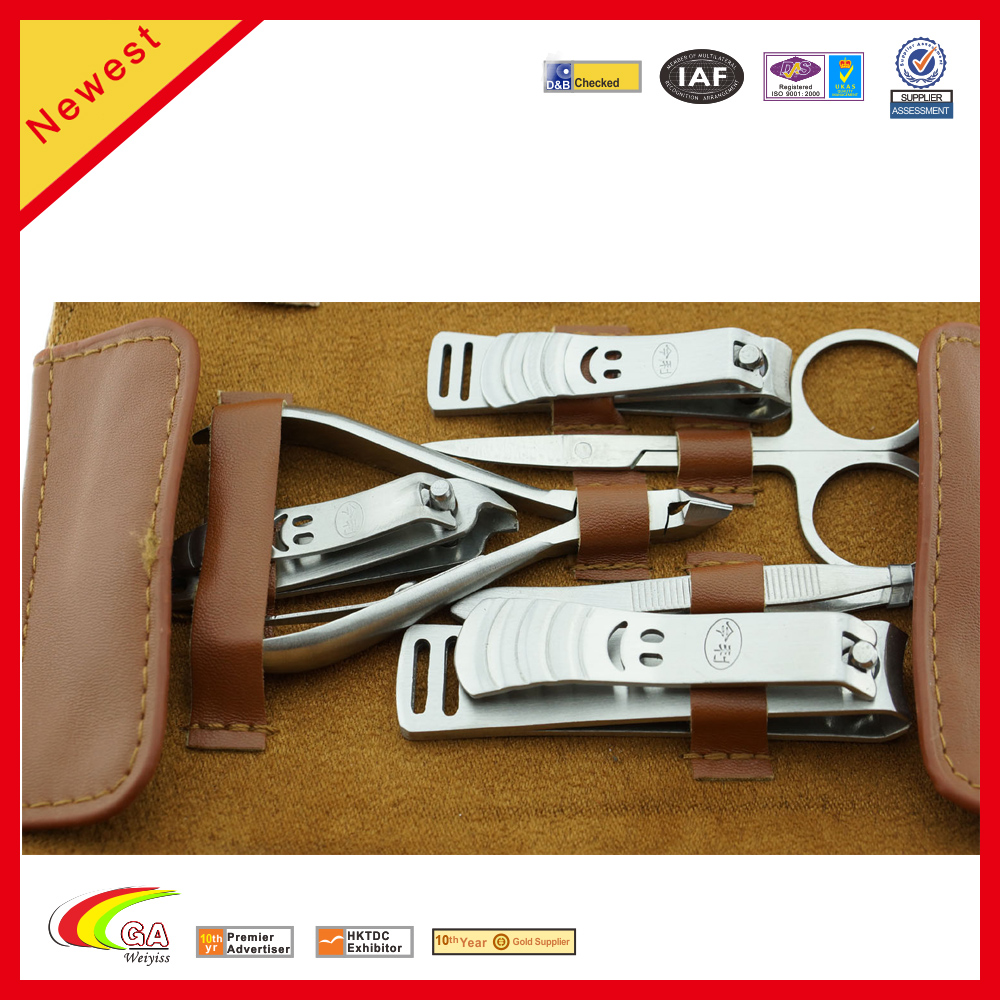Stainless Manicure Pedicure set Cutter Nail Clipper Kit leather Set Tool Grooming kit/manicure pedicure Nipper
