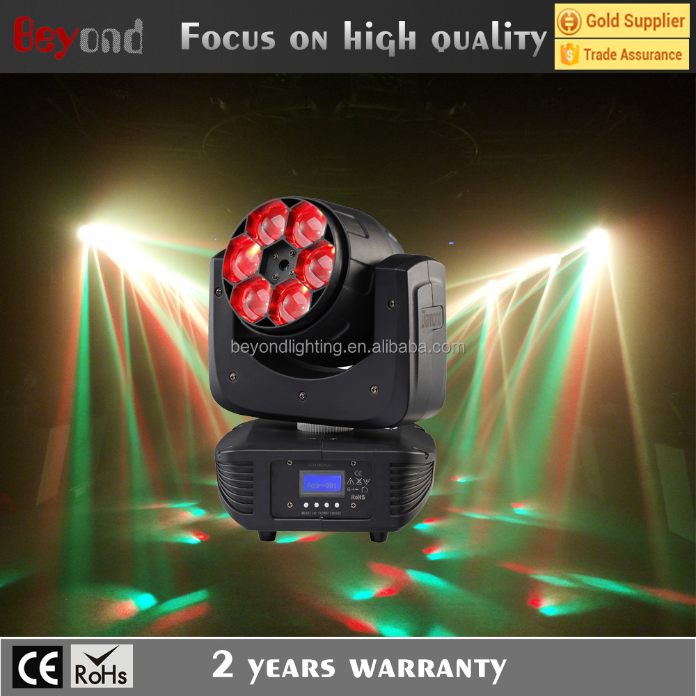 Mini size Reasonable price: 6x15w 4-in-1 bee eye moving head led