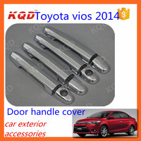 car door handle plastic cover for toyota vios chrome door handle cover toyota vios 2014 2015 accessories chrome car door handle