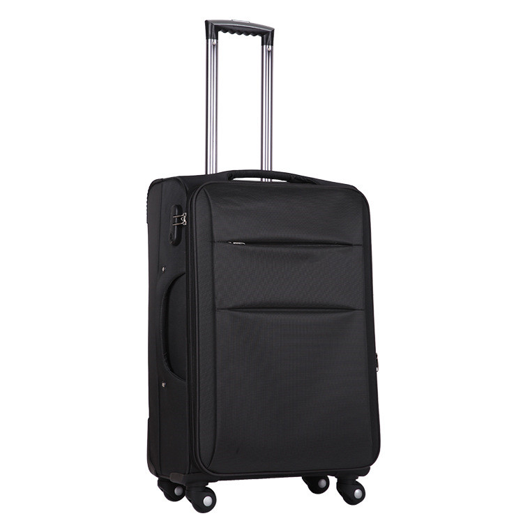 High quality waterproof fabric soft trolley luggage with coded lock