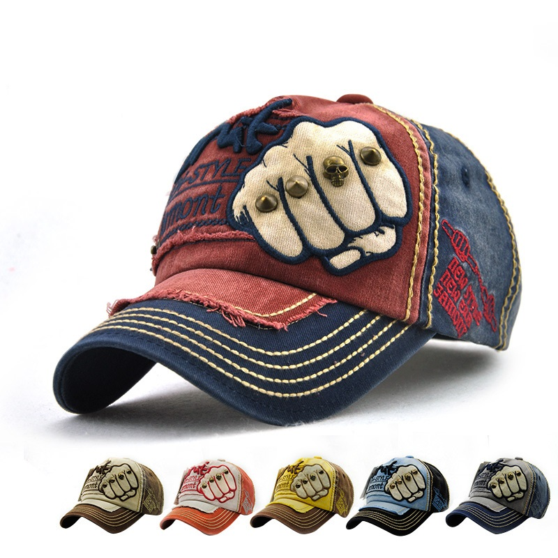Wholesale Relaxation Baseball <strong>Cap</strong> with Fist&Rivet Hat