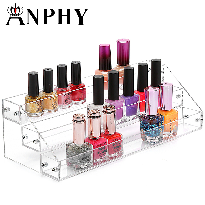 ANPHY C70 3 Layers Acrylic stand Rack Shelf Nail Polish Organizer 3 layers acrylic nail polish display rack