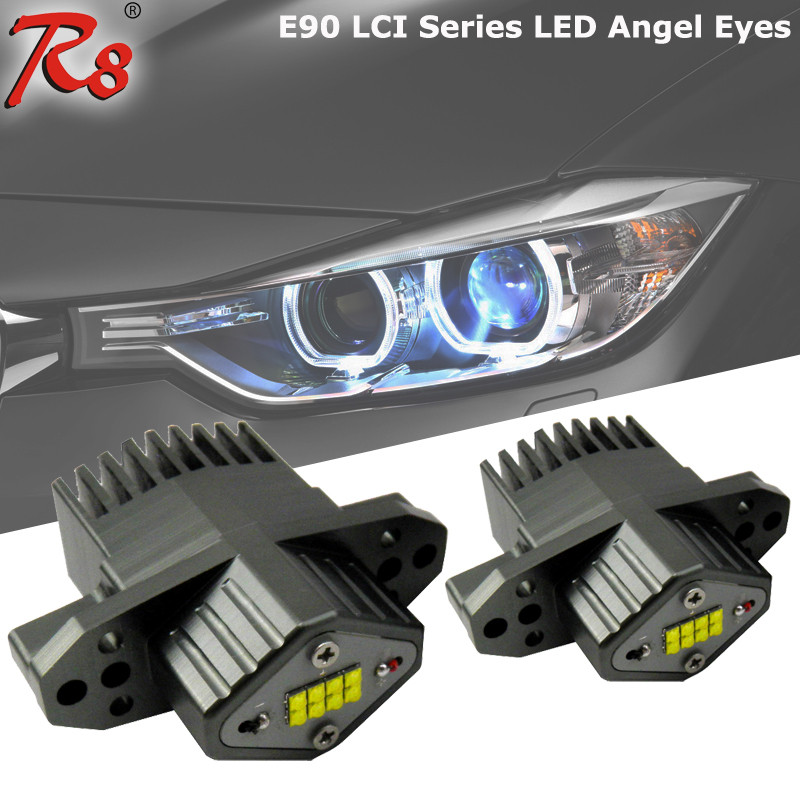 High quality E90 LCI 40W led marker light for BMW E90 E91 for skoda superb led angel eye headlight with 8 crees leds canbus