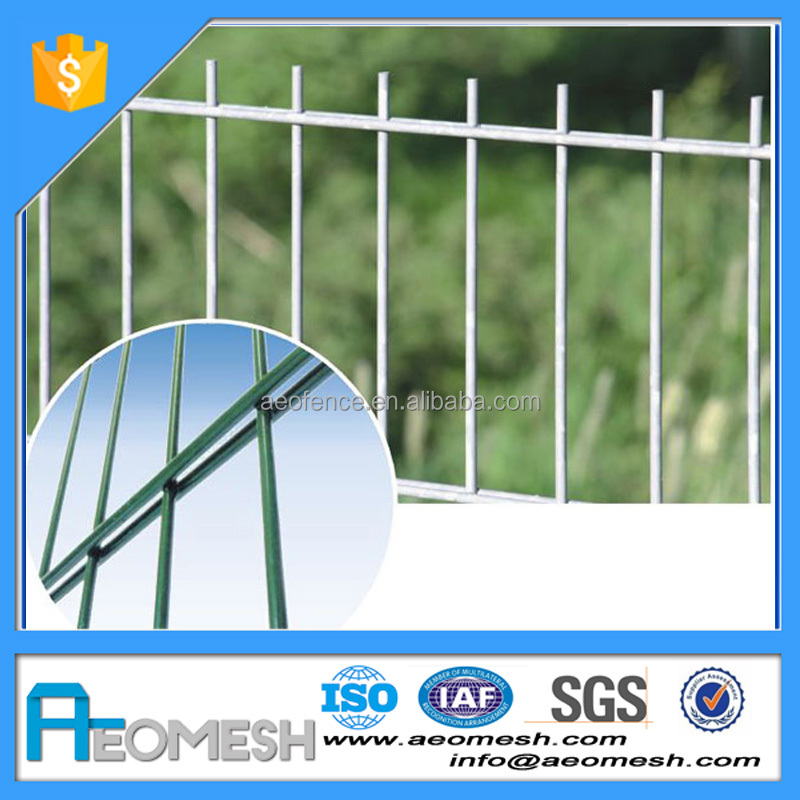 Pvc coated double loops wire mesh fence hot sale for boundary wall