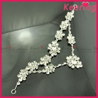 silver rhinestone chain latest fancy girls hair clips WHD-065