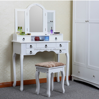 Yasen Houseware Outlets Dressing Table With Mirror,Make Up Dressing Table Furniture