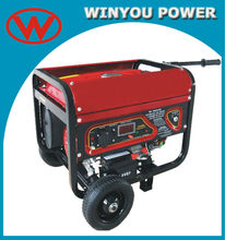 168F 6.5HP 2kw gasoline generator with wheel kits petrol portable generator