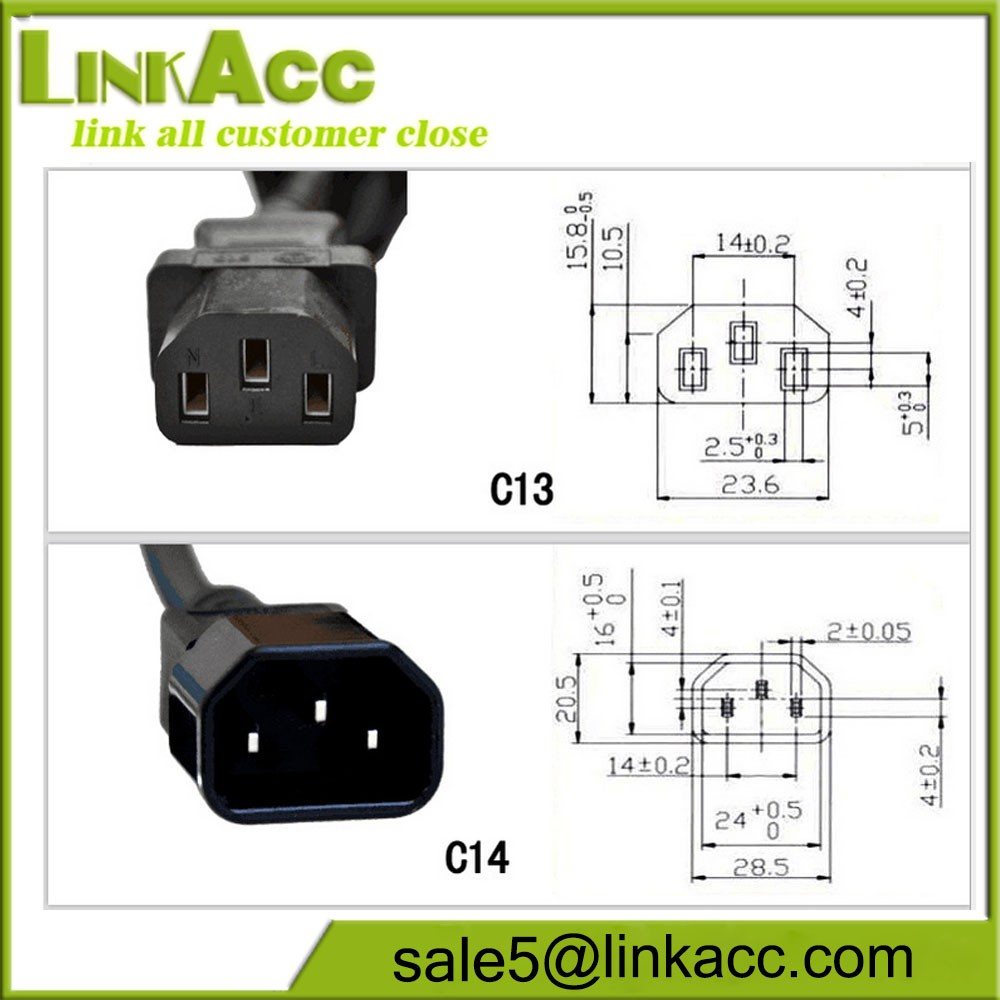 LKCL19 Word IEC320 high-power power supply extension line C13-C14 server chassis PDU Jack battery car