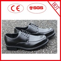 Classic design men black formal shoes