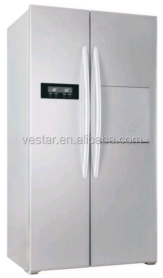 hot sale A+ class frost-free side by side refrigerator with Mini Bar