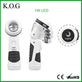 Professional Zoomable LED Swivel Flashlight with Focus