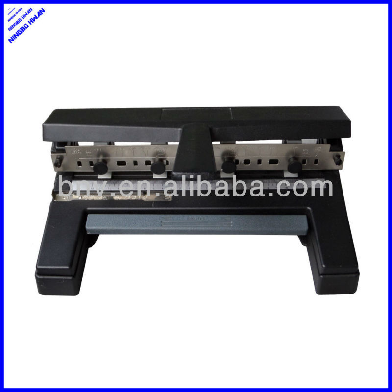 High quality office all metal 2 3 4 adjustable heavy duty hole punch