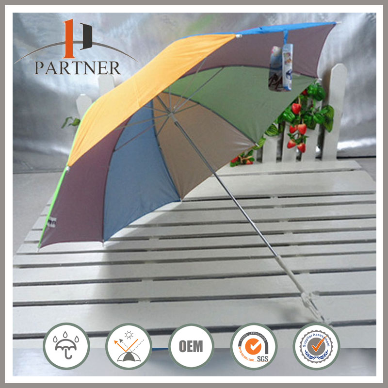 7 Colors Patio Golf Kids Rainbow Umbrella