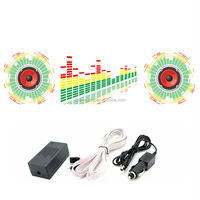 90*25cm sound activated equalizer EL car sticker with DC12V sound active inverter