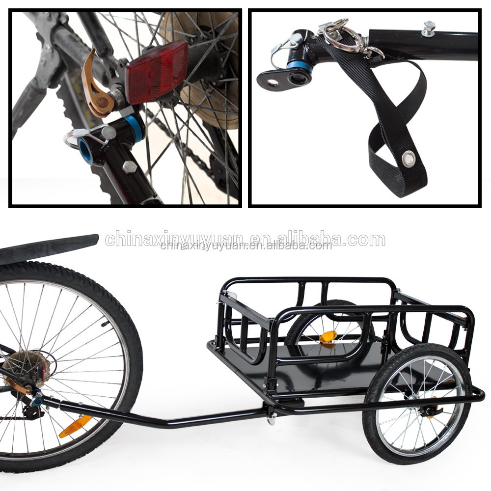Bicycle trailer cargo foldable cargo carry bike trailer for small animals