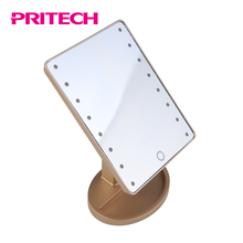 PRITECH Newly Designed Stand With 180 Degree Rotating LED Vanity Mirror