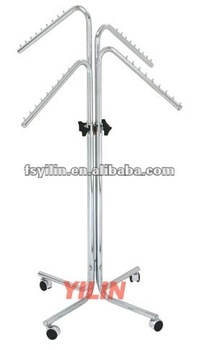 CR23 chrome plated 4 arms steel tube clothes rack