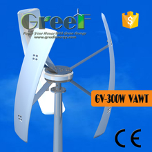 Residential roof-mounted Wind turbine 300w , mini spiral wind generator 300W , household 3 phase wind turbine