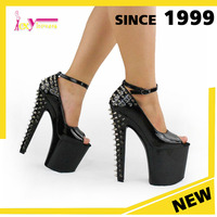 new designs christmas hot selling 20cm heel sexy platform brand new design high heel spike ladies pole dance shoes