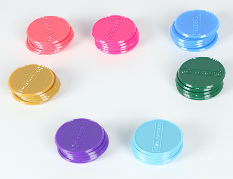 colorful plastic game token