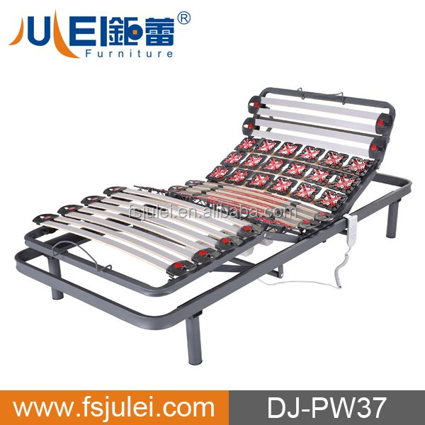 convenient electric adjustable steel & slat chop bed frame DJ-PW37
