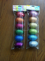 glitter decoration plastic easter egg